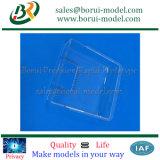 CNC transparente que faz à máquina as peças plásticas, tampa plástica transparente