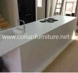 Corian feste Oberflächenküche-Insel-acrylsauerschränke