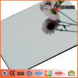 Matériau de construction Ideabond Silver panneau composite en aluminium fini miroir (AE-201)