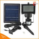 Luz de inundação psta solar da segurança de 60 diodos emissores de luz com sensor de movimento