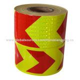 Стрелка красной и желтой конструкции гребня меда большая отражательной ленты безопасности