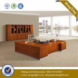 マホガニーカラーオフィス用家具のメラミン木製の事務机(NS-NW145)