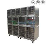 Clinique Veternary Grand Chien cage en acier inoxydable