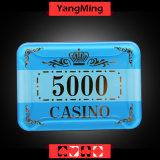 A coroa acrílica das microplaquetas do cristal/póquer que bronzeia microplaquetas do casino pode ser o costume Ym-Cp004