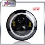 50W Scheinwerfer des Wrangler-LED mit Halo-Ring, runder LED Scheinwerfer 7 Zoll-für Jeepwrangler-Scheinwerfer