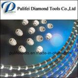 Le fil de diamant a vu que le fil en caoutchouc de revêtement en plastique de talons ont vu