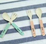 FDA одобрил бамбуковые волокна Детские ложечка и вилочка (YK-A90061)