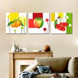 Vente en gros de haute qualité 3 panneaux de décoration murale Art Linen Canvas Painting