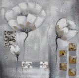 Peinture à l'huile peinte à la main de type spécial de fleur pour la salle de séjour