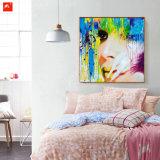 Het Af:drukken van het Canvas van het Meisje van de manier met Frame