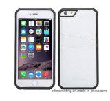 Teléfono celular móvil caso Crazy Horse Cuero Titular de Tarjeta de caso de TPU para iPhone Teléfono Móvil bolsa