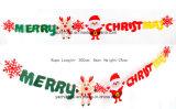 Árbol de navidad de fieltro y ciervos Decoración