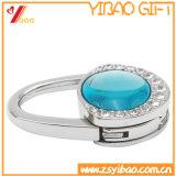 Kundenspezifischer Firmenzeichen-Acryldiamant-faltbarer Fonds-Beutel-Haken/Aufhängung für Promtoin Geschenk