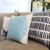 Print 14X20 Inch Rectangle Polyester Almofadas baratos para pátio