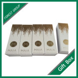 Or l'Estampage logo Boîte de papier de carton magnétique