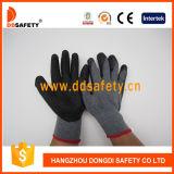 Ddsafety 2017 gants fonctionnants tricotés de sûreté enduite de gant de latex de pli
