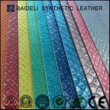 Het metaal Synthetische Leer van het Patroon PVC/PU van de Slang voor Dame Fashion Bag, de Zak van de Hand, Portefeuille