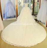 Perler la robe de mariage fine de bille de lacet à gradins nuptiale de robes Lb281