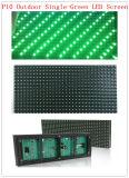 P10 al aire libre escogen el texto verde que hace publicidad de la pantalla de /Display del módulo