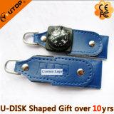 주문 Logousb 섬광 드라이브 (YT-5113)를 가진 Leather Company 선물