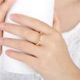Kubikzircon-Stein 925 Sun-silberner Diamant-Ring u. CZ-Diamant-Vergoldung-Hochzeits-Ring 2017