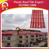 China Fabricante Superior de calor isolada sintética telhas plásticas espanholas