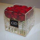 로즈와 초콜렛을%s 호화스러운 명확한 정연한 아크릴 꽃 상자