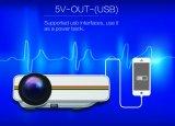Vídeo película de los juegos portátil casera LED Proyector con WiFi Bluetooth