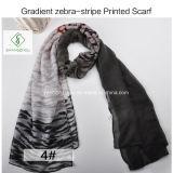 Neuer Schal-Form-Dame Scarf der Steigung-2017 Zebra-Streifen gedruckte dickflüssige