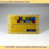 Tarjeta Glittering del oro - tarjeta del PVC con oro metálico