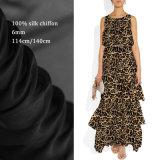 Tela de seda pura impressa Digitas feita sob encomenda para o vestido das senhoras