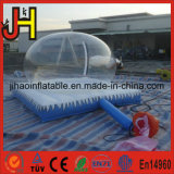 Раздувной глобус снежка рождества, раздувной воздушный шар шатра пузыря
