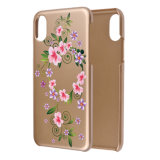 Cubierta dura protectora delgada brillante de lujo del caso del modelo de flores del ajuste de C&T para el iPhone 8