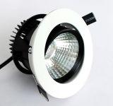 Rond encastrer l'ÉPI réglable rotatif DEL Downlighting de Dimmable 12W de plafond