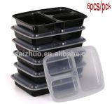 contenitore di alimento di plastica a gettare accatastabile di 12-Pck 3-Compartment