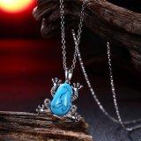 Juwelen van de Manier van de Halsband van de Halsband van het Koper van de Halsband van Pendnat van de Vorm van de Kikker van de Halsband van de Tegenhanger van Kallaite de Populaire Materiële Zwarte Kanon Geplateerde