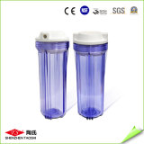 Alta durabilidade do alojamento do filtro de água de plástico transparente certificados