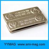 Insigne nommé magnétique en métal réutilisable