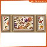 景色の壁絵画3パネルの美しい花のキャンバスの現代油絵