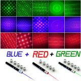 6 [إين1] [5مو] حمراء خضراء اللون الأزرق [لد] ليزر مؤشّر قلي