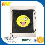 Sac de cordon promotionnel bon marché d'Emoji du polyester 210d