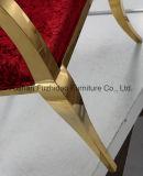 Cadeira do casamento do tipo e da rainha da cadeira do aço inoxidável do cromo de Fuzhidao