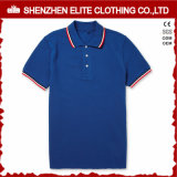 Camiseta transpirable para hombre Slim Fit Polo blanco con el collar rojo (ELTMPJ-262)