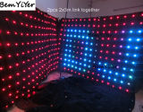 A2318/Pitch 18cm/2X3m LED 영상 커튼 빛 또는 전시 Screen/DJ 움직임은 또는 Wedding 이동할 수 있는 단계 배경막 주름잡아 드리운다