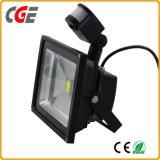 luz del jardín del sensor del sensor de movimiento de la luz de inundación de 20W 30W 50W LED PIR