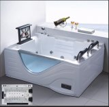 1700mm de la esquina del rectángulo spa con bañera de masaje RoHS CE para 2 personas (EN-0750-1)