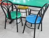 Напольное стекло волокна обедая стул с ногой металла (LL-DC007)