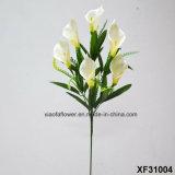 Única haste flor artificial/plástica/de seda do lírio de Clla (XF31004)