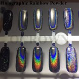 Laser-silbernes ganz eigenhändig geschriebes glänzendes Puder-magisches Spiegel-Puder-Nagel-Funkeln-Nagel-Kunstsequins-Chrom-Nagellack-Staub-Pigment