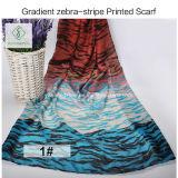 Nuova signora viscosa Scarf di modo dello scialle stampata di pendenza 2017 Zebra-Banda